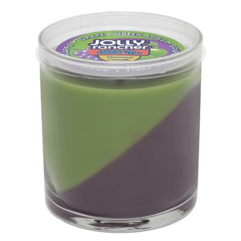 Jolly Rancher Awesome Twosome Grape-Green Apple Scented Diagonal Candle - Candlemart.com - 1