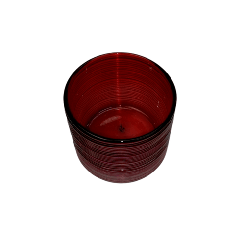 Red Swirl Glass