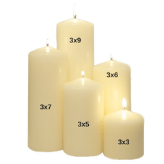 3x5 Unscented White Pillar Candle - Candlemart.com