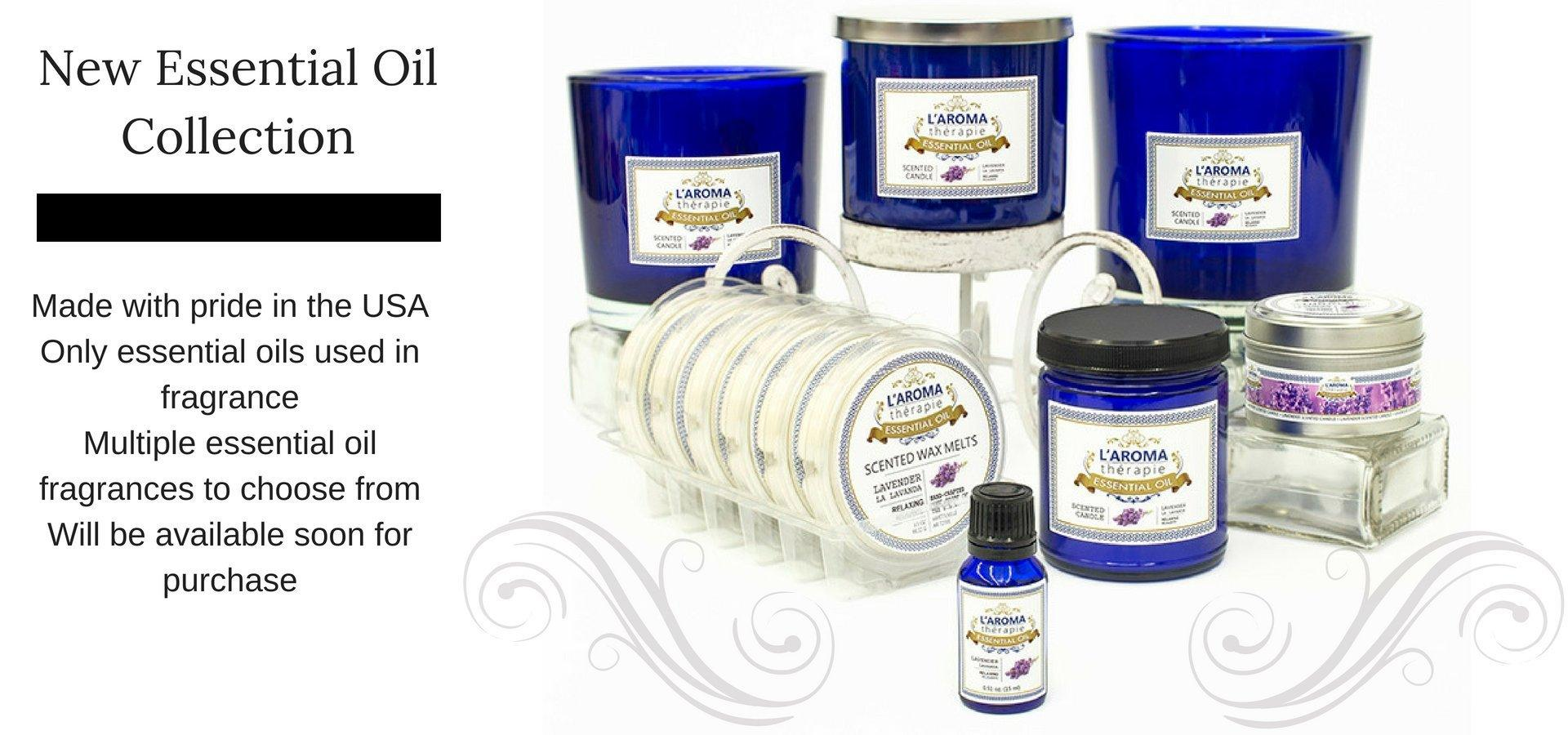 essential oil collection candles and melts