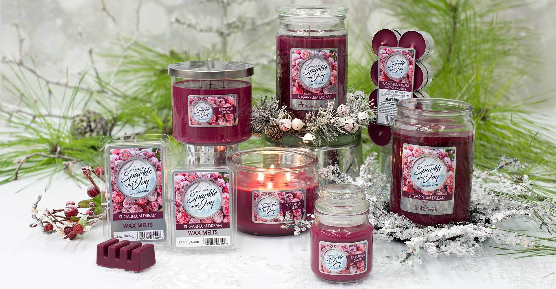 christmas holiday candles and melts on sale