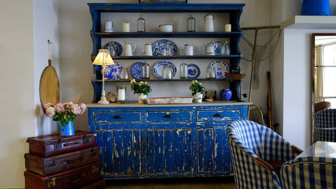 blue bohemian furniture