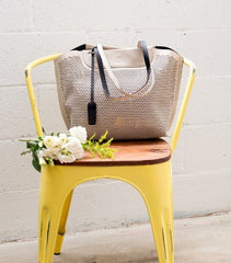 bohemian chair and bag