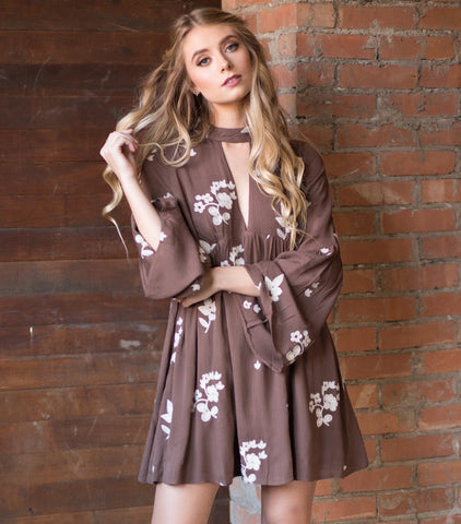 Far Away Dress - Brown