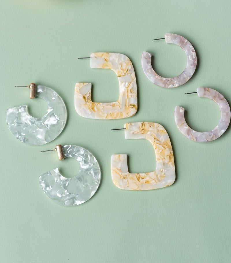 Mosaic Crush Hoops