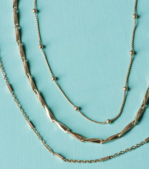Triple Threat Chain Necklace Set