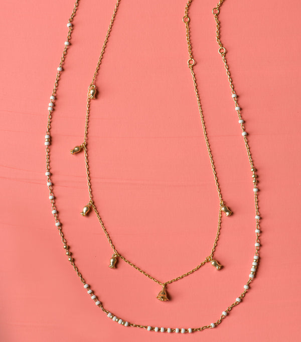 2 pc Rose Vine Necklace Set