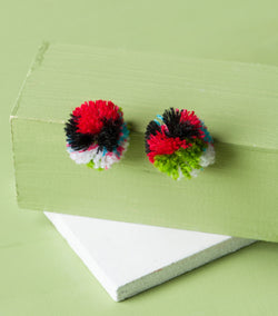 Glad to Meet You Pom Pom Earrings