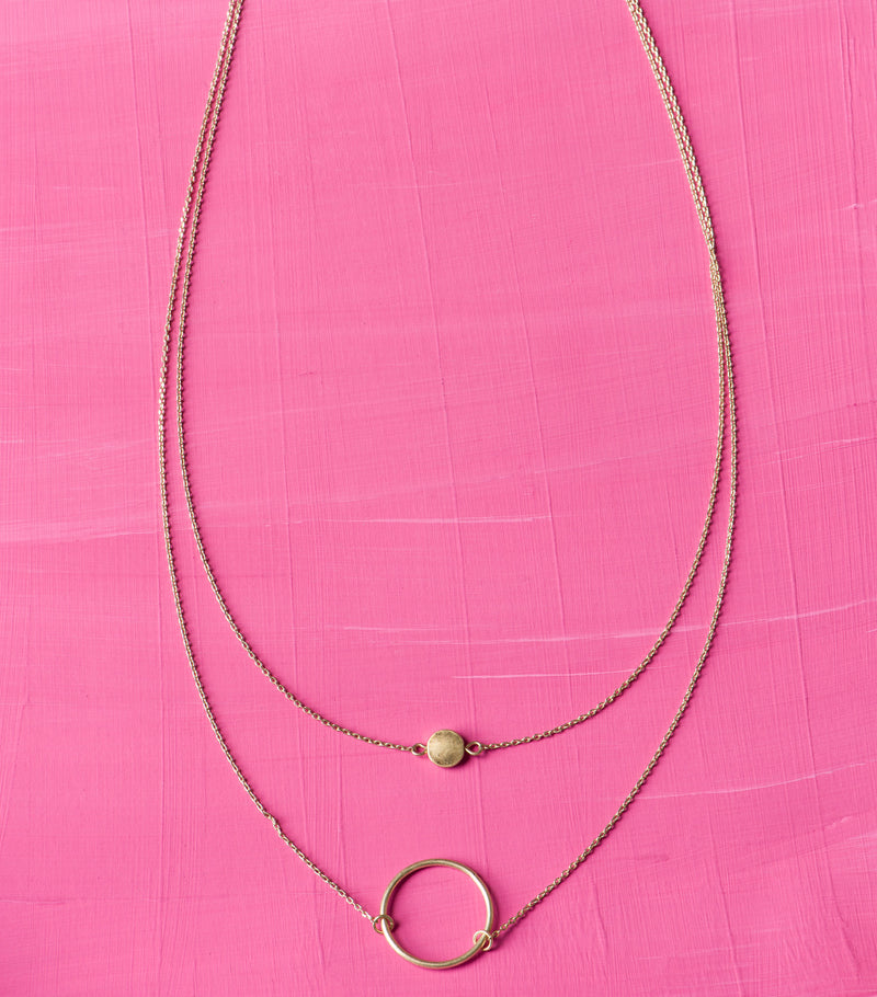 Golden Dot Necklace