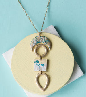 Painterly Shapes Necklace