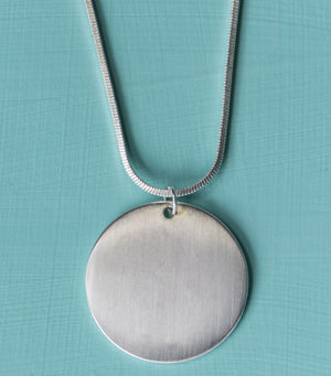Disc Medallion- Silver