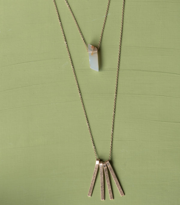 Agate Double Strand Necklace