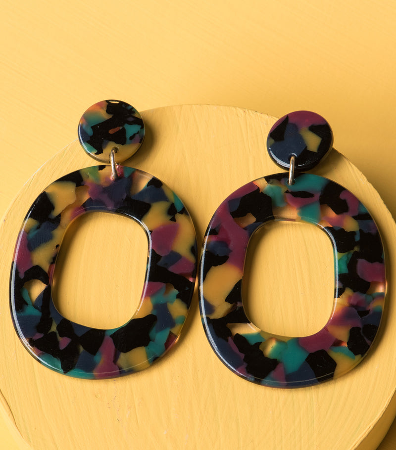 Retro Mosaic Earrings