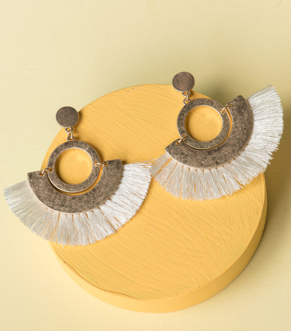 Fringe Swing Hoop Earrings