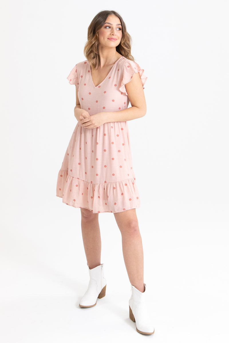 Dot It Past Dress
