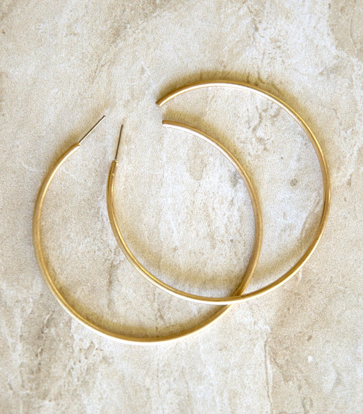 Grand Gold Hoops
