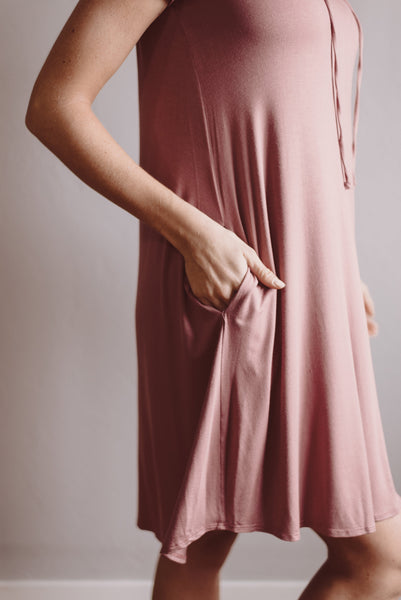Crossing Lines Dress - Mauve