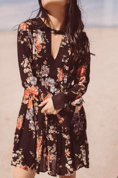 Daytime Floral Dress - Black
