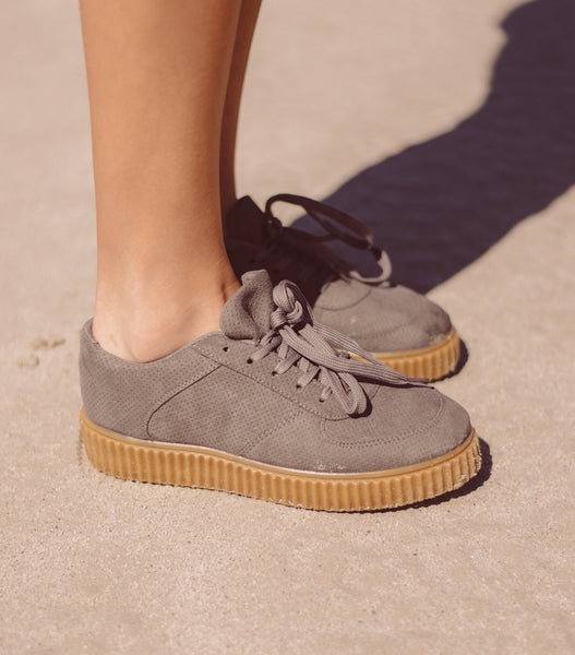 Tackle Sneaker - Grey Suede