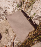 Everly Wallet - Grey Suede