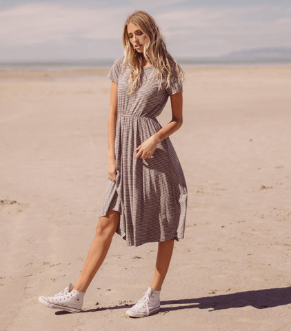 Easy T Dress - Grey & Black