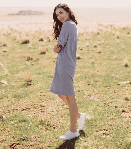 Dust T Dress - Dusty Denim