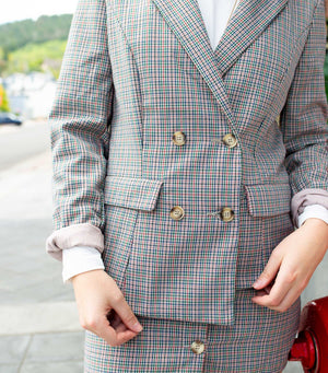 Retro Plaid Blazer