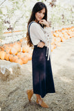 Overall Maxi Skirt-Denim