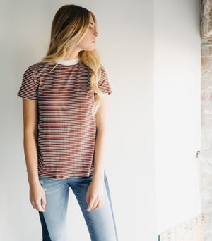 Blocked Stripe Tee