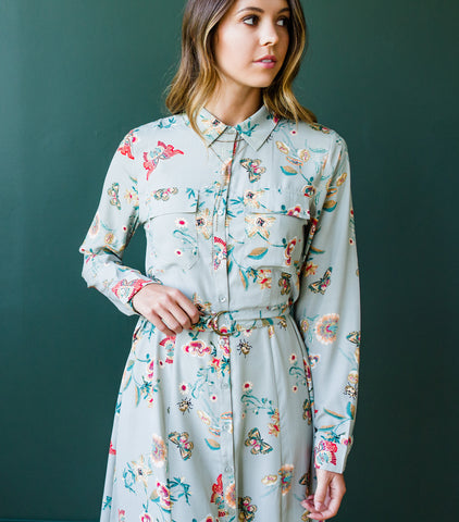 Juniper Tie Waist Button Up Dress