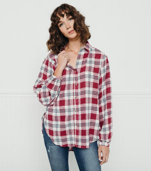 Cabin Fever Plaid-Off White Red