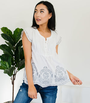 Flirty Flutter Sleeve Top