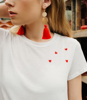 I Heart You Graphic Tee- White/Red