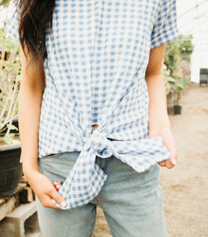 Gingham Knot Blouse