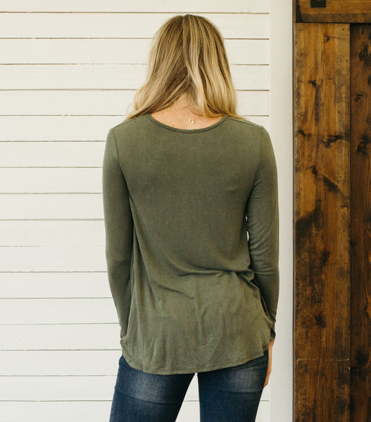 Day Dream Top- Olive