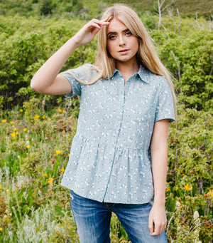Daisy Button Up Blouse