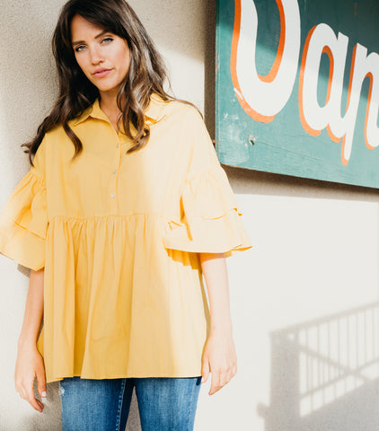 Sweet Sunny Day Top-Yellow