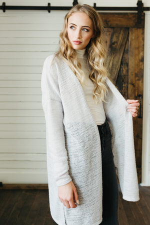 Free Falling Layers Cardigan-Grey