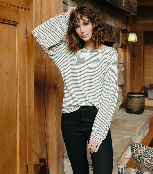 Forever Young Stripe Sweater