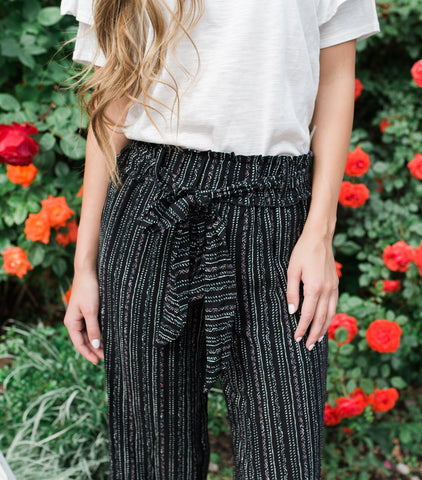 Tribal Print Pant - Black