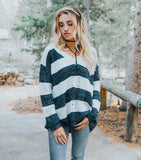 Bold Stripes Sweater - Black/White
