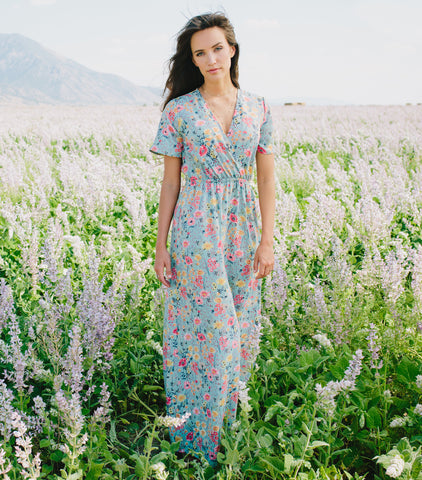 Fields of Sage Maxi Dress - Sage