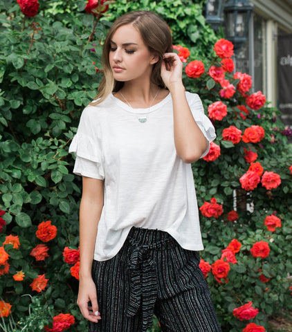 Ruffled Up Sleeve - White