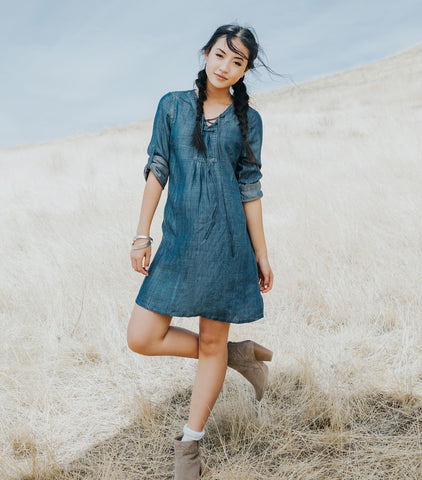 Traveler Tinsel Dress - Denim