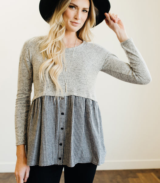 Jolly Gingham Sweater