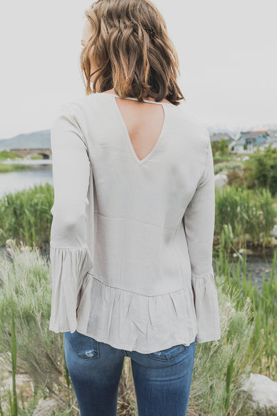 Perfect Touch Blouse - Light Grey