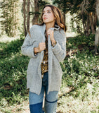Over-sized Cardigan-Grey