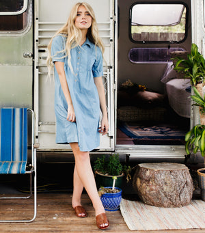 Chambray Button Down Dress