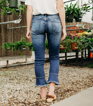 Zoey Bell Bottom Jean-Dark/Med