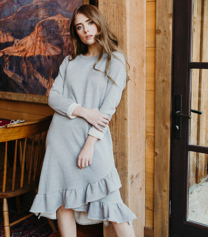 Keepin' It Casual Dress-Heather Grey